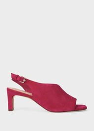 Kate Suede Sandals, Fuchsia, hi-res