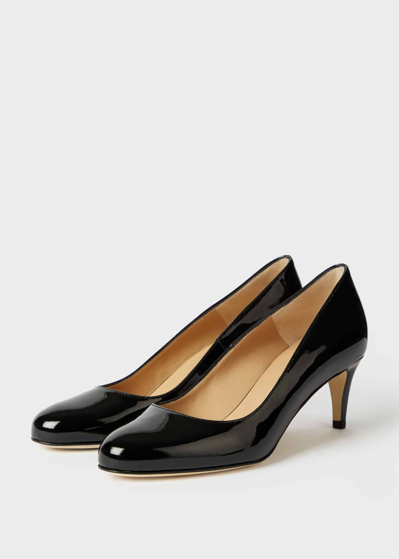 Emma Patent Stiletto Court Shoes Black