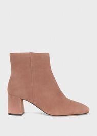 Imogen Suede Ankle Boot, Blush Rose, hi-res