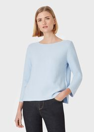 Beatrice Cotton Jumper, Cornflower Blue, hi-res