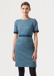Elodie Wool Dress, Kingfisher Mult, hi-res