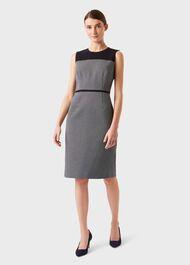Petite Brianna Dress, Navy Ivory, hi-res