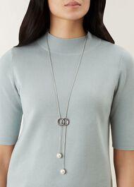 Robyn Necklace, Silver, hi-res