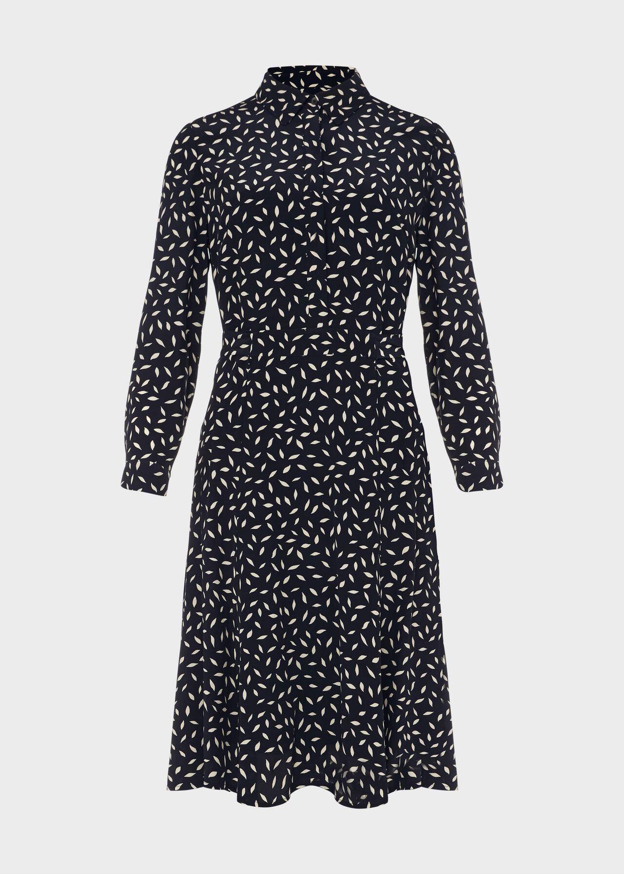 Petite Emberly Dress Navy Buttrcream