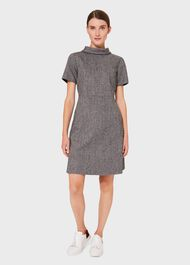Martha Wool Dress, Grey, hi-res