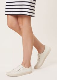 Billie Plimsoll, White, hi-res