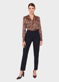 Laurel Wool Blend Tapered trousers, Navy, hi-res