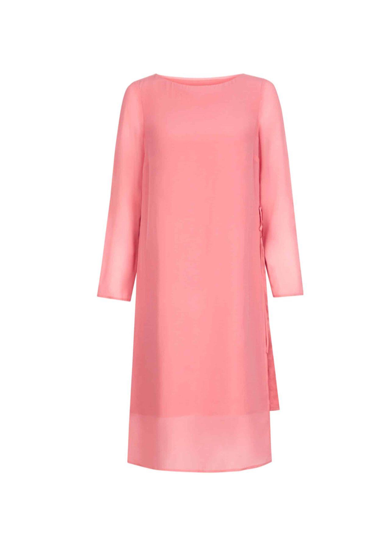 Edie Silk Dress Pink