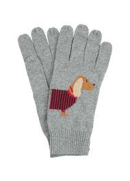 Dachshund Cashmere Blend Glove, Grey, hi-res