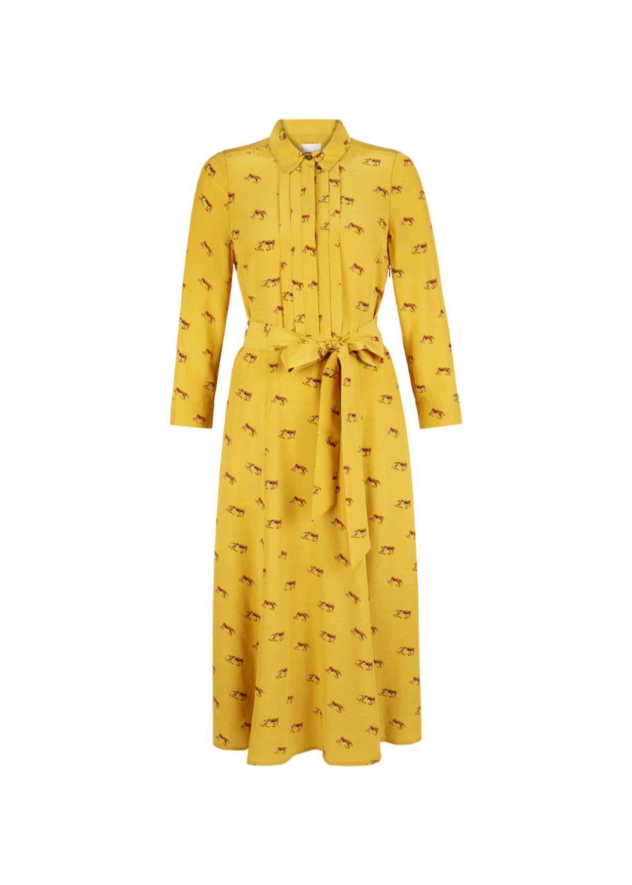 Tanya Shirt Dress Mustard Multi