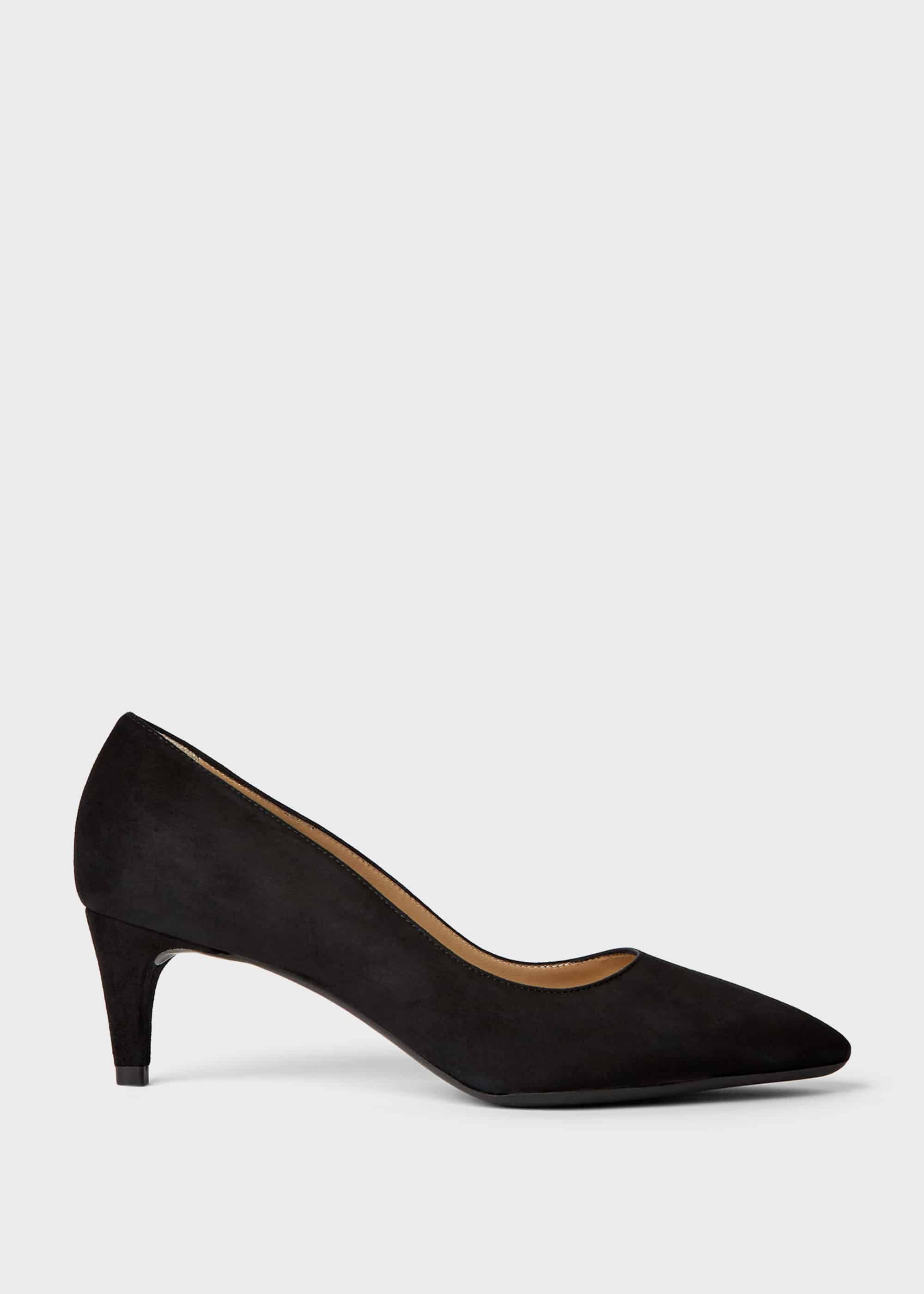 Polly Suede Kitten Heel Court Shoes | Hobbs