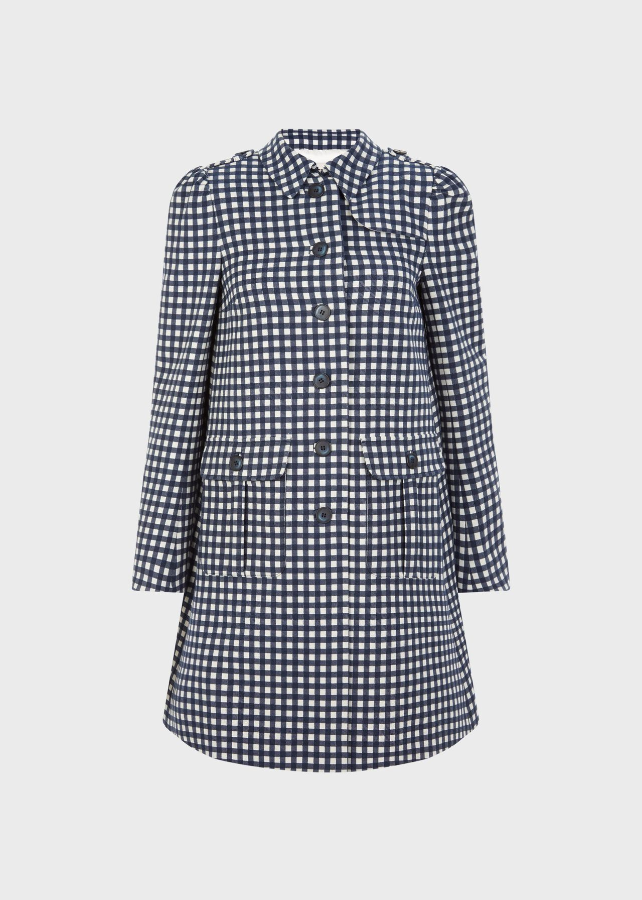 Lila Coat Navy White