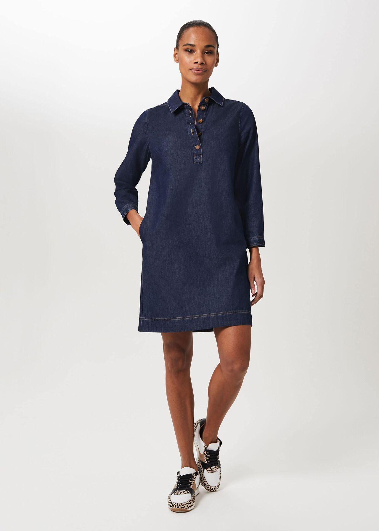 Jenny Denim Dress, Light Indigo, hi-res