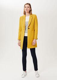 Petite Corina Coat With Wool, Oil Yellow, hi-res