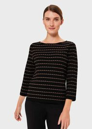 Tayla Sweater, Black Camel, hi-res