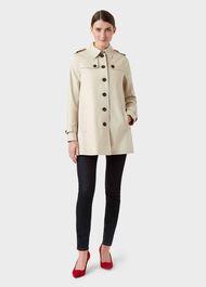 Short Chrissie Trench Coat, New Neutral, hi-res