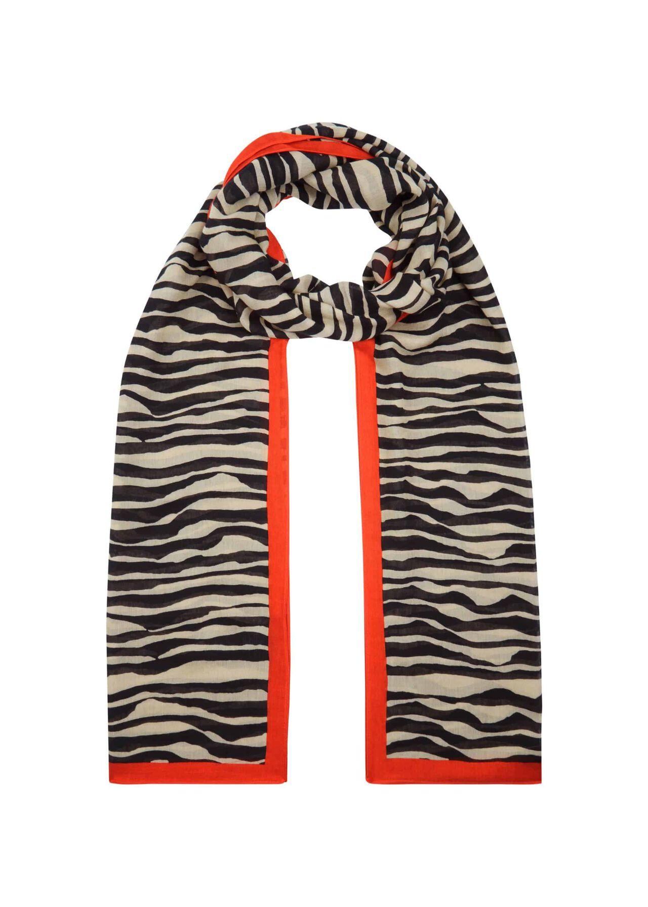 Zebra Scarf, Neutral, hi-res