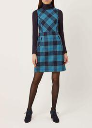 Hattie Wool Dress, Blue Multi, hi-res