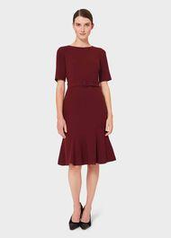 Bria Dress, Merlot, hi-res