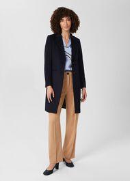 Tilda Wool Coat, Navy, hi-res
