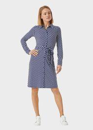 Sandrine Dress, Navy Multi, hi-res