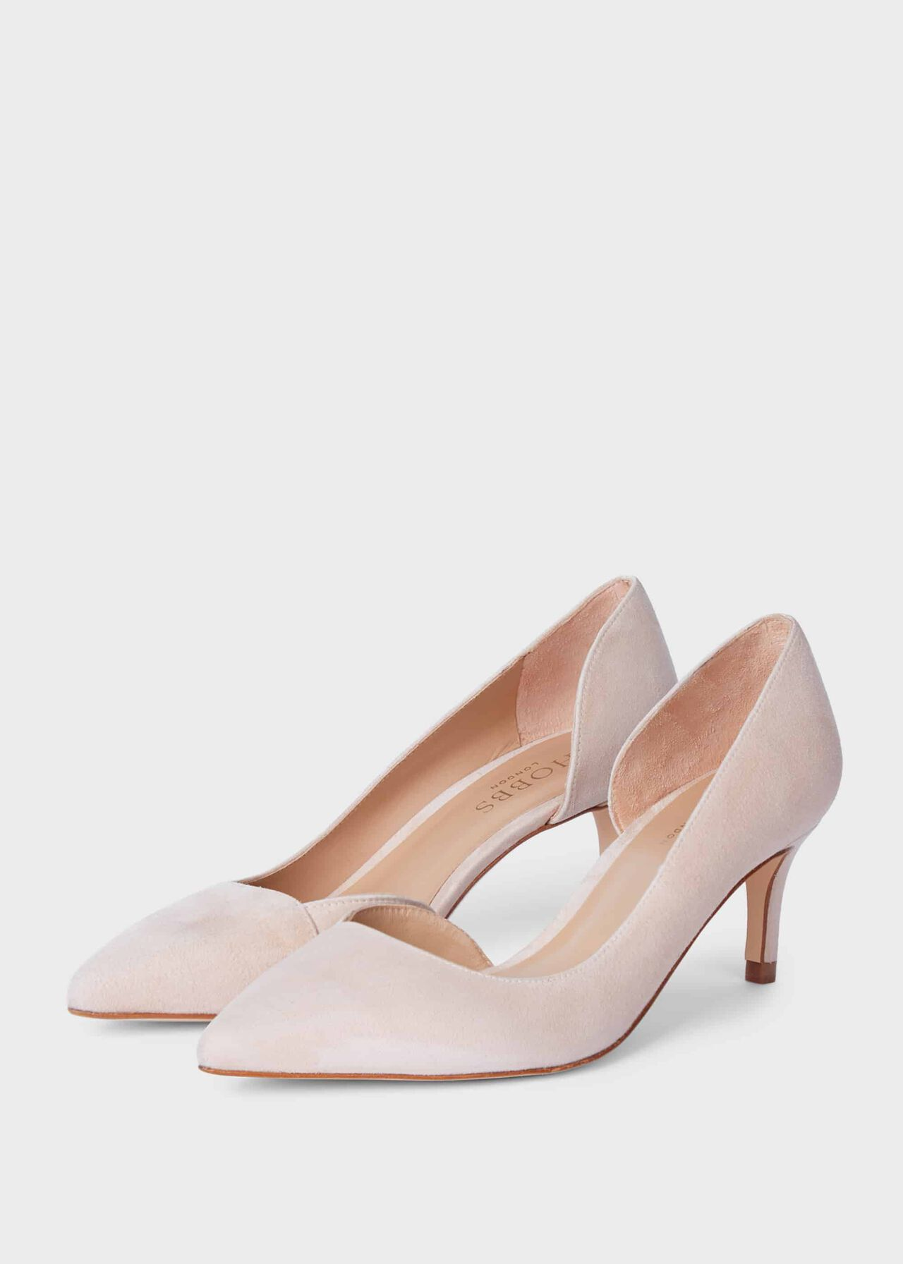 Selena Suede D'Orsay Court Shoes Blush