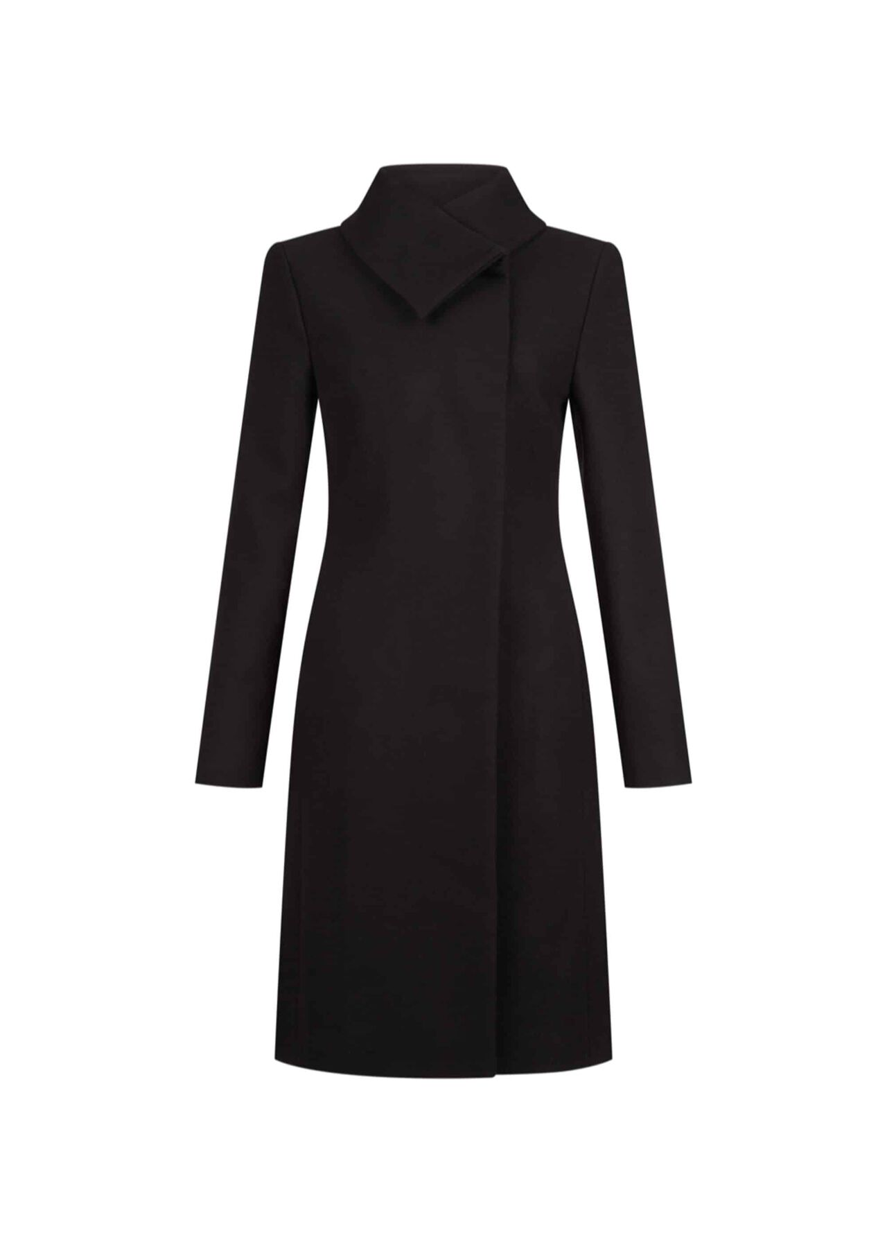Samantha Wool Blend Coat Black
