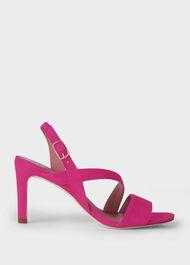 Mila Suede Sandals, Fuchsia, hi-res
