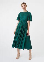 Leia Dress, Emerald Green, hi-res