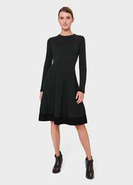 Sarah Knitted Dress, Pine Green, hi-res