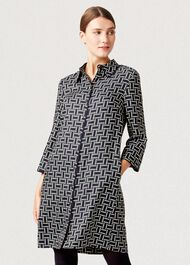 Aubery Dress, Navy Multi, hi-res