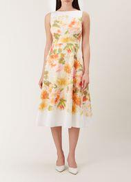Dahlia Dress, Ivory Multi, hi-res