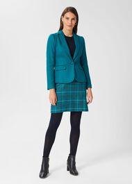 Petite Blake Wool Jacket, Lagoon Blue, hi-res