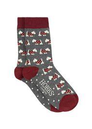 Scotty Dog Sock, Grey, hi-res