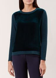 Benita Sweater, Green, hi-res