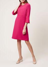Cassie Dress, Lipstick Pink, hi-res