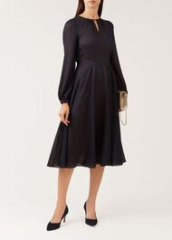 Claudette Dress, Navy, hi-res