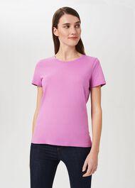 Pixie Cotton T-Shirt, Super Pink, hi-res