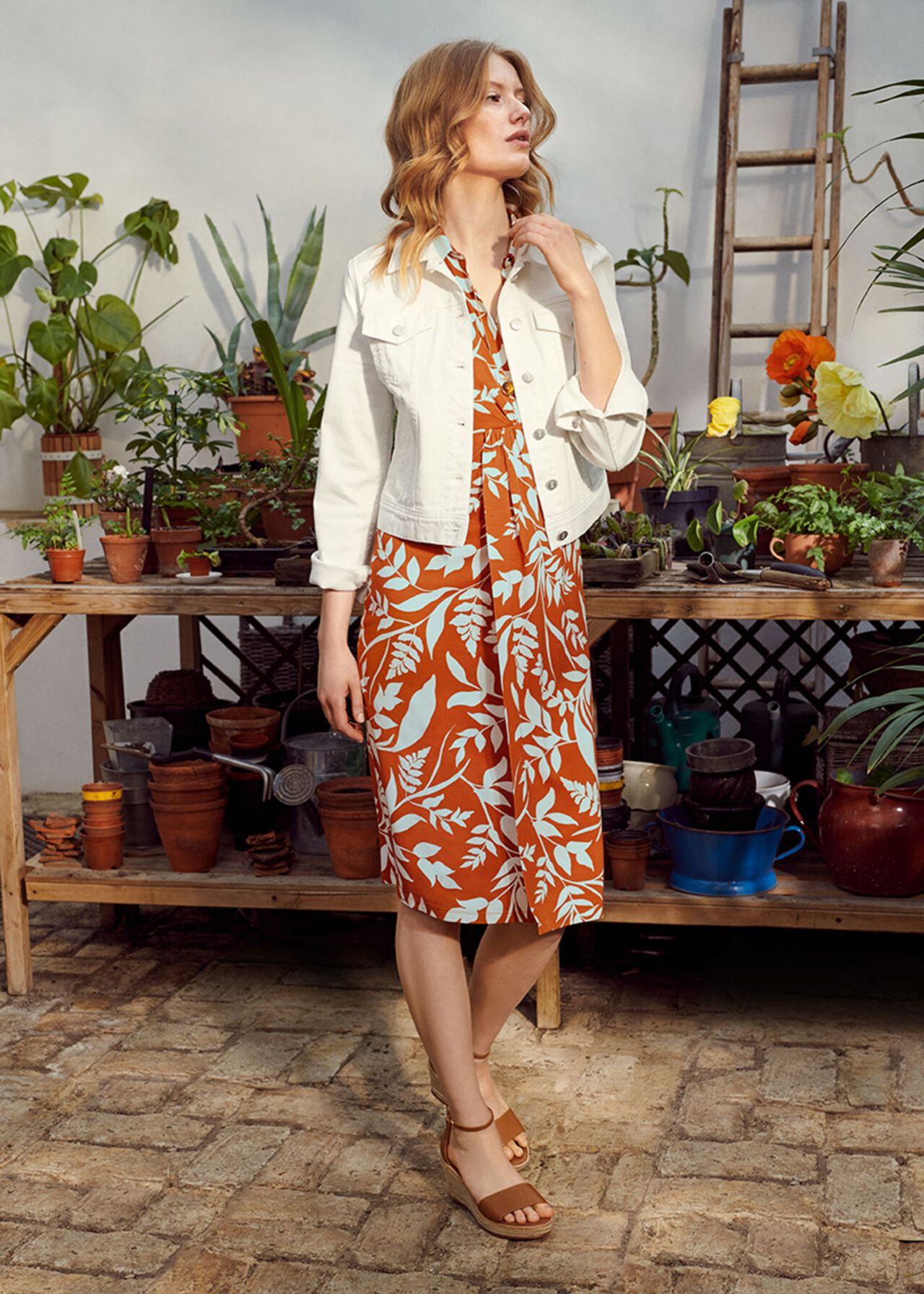 The Nadia Dress With Denim Jacket Outfit, , hi-res