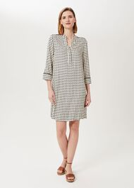 Amara Tunic Dress, Neutral Multi, hi-res