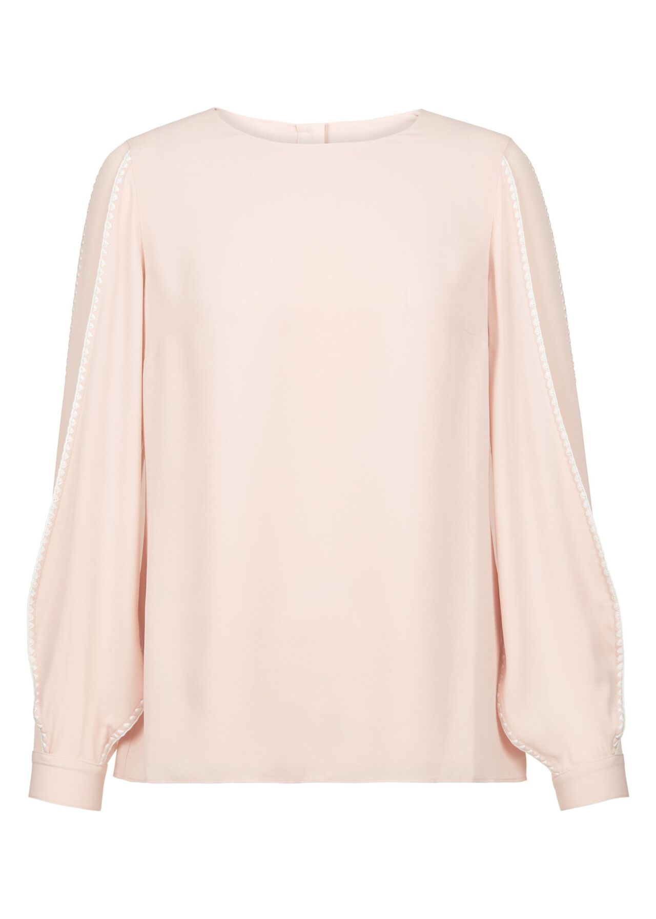 Petite Gina Top Pale Pink Ivory