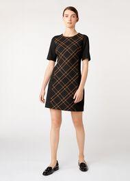 Petite Mari Dress, Black Camel, hi-res