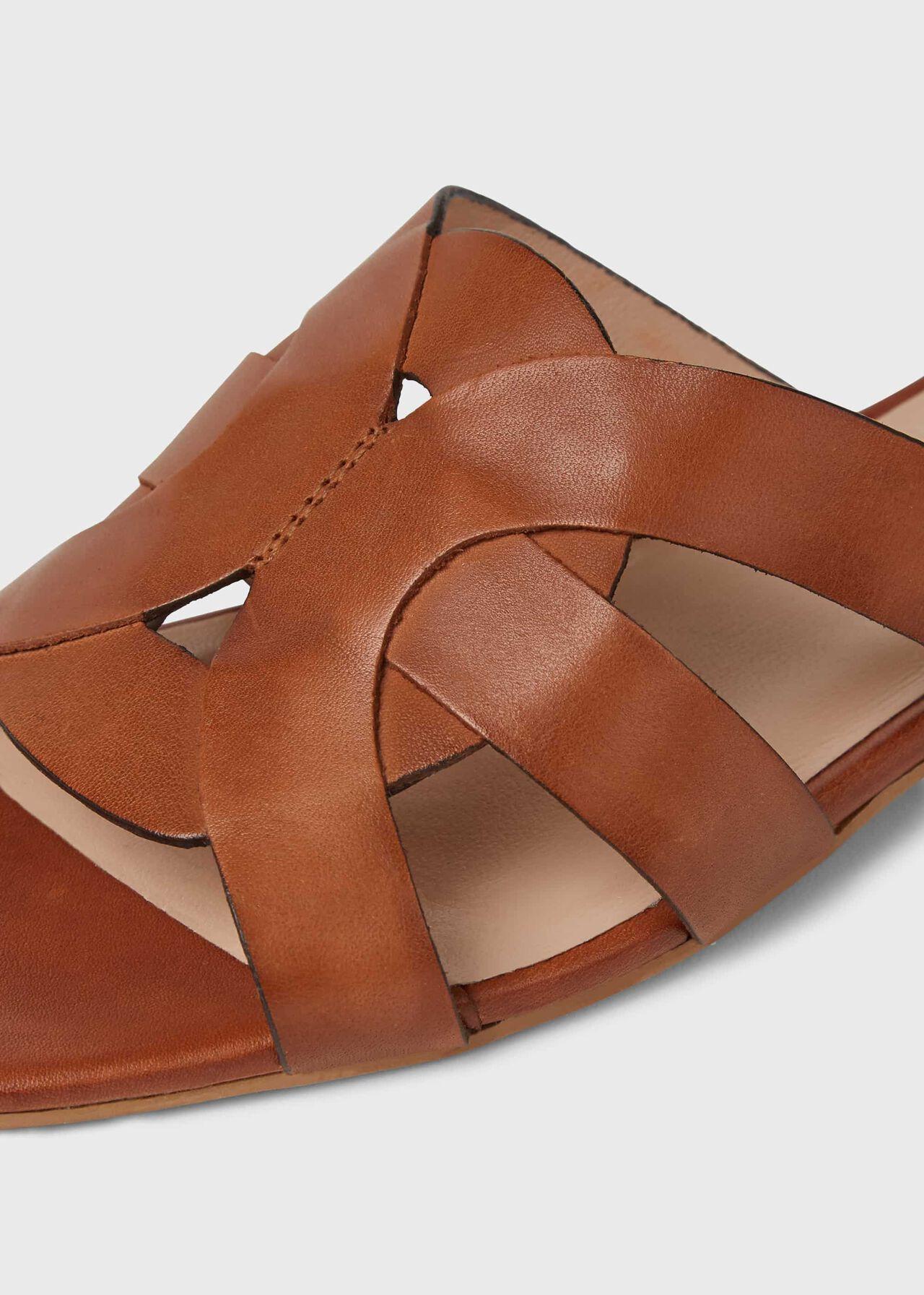 Alexandra Leather Sandals, Tan, hi-res