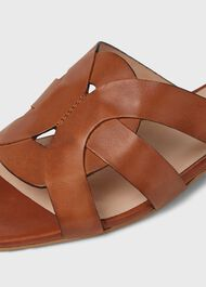 Alexandra Leather Sandals, Tan, hi-res