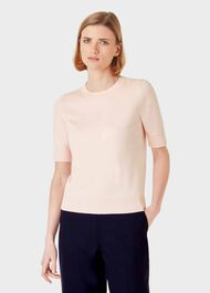 Paula Cotton Blend Jumper, Pale Pink, hi-res