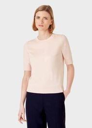 Paula Cotton Blend Sweater, Pale Pink, hi-res