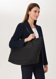 Norfolk Nylon Tote Bag, Black, hi-res