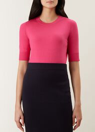 Paula Sweater, Bright Pink, hi-res