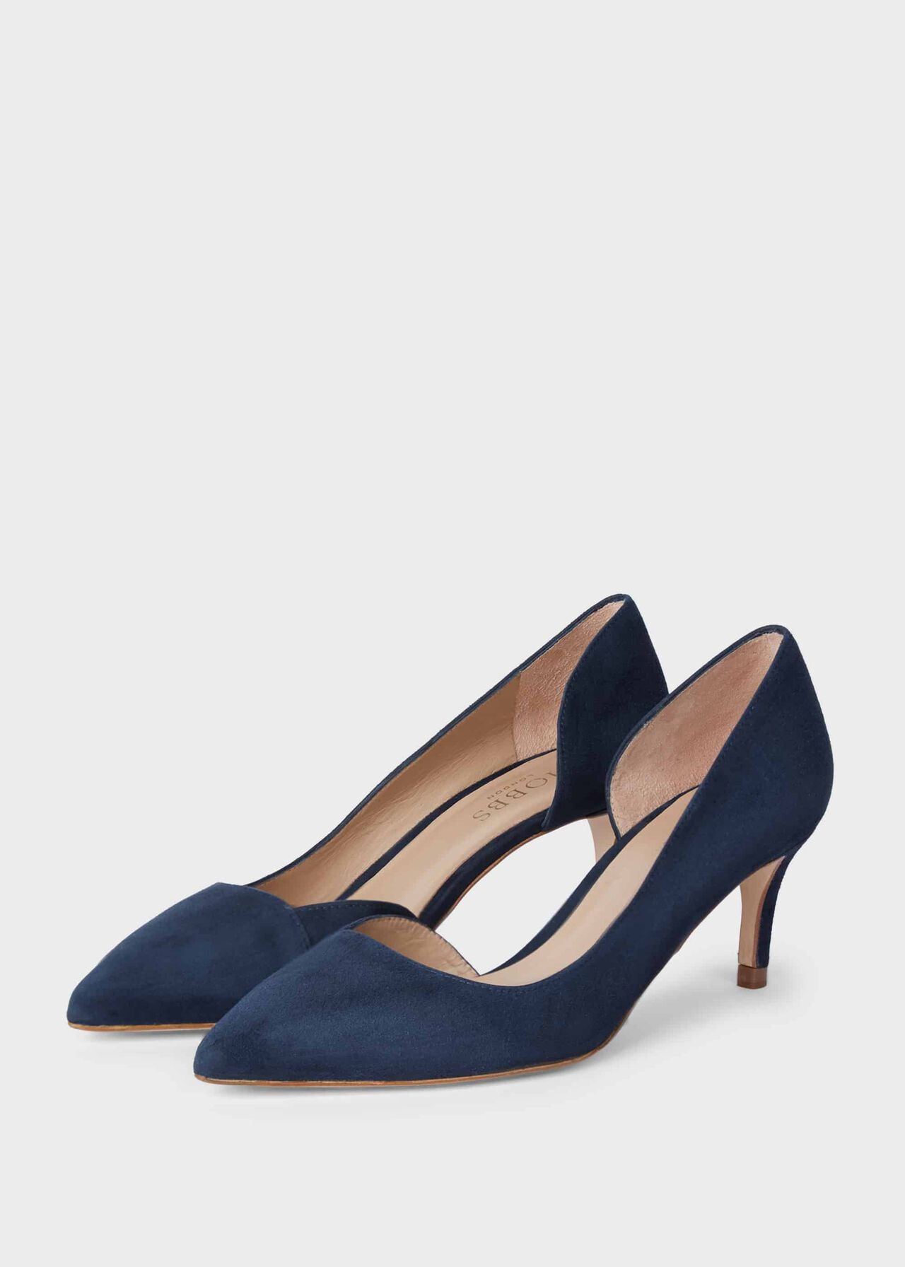 Selena Suede D'Orsay Court Shoes Navy