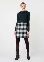 Elea Wool Skirt, Ivory Green, hi-res